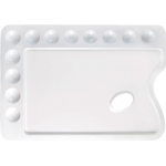 "Heritage Arts™ Rectangular Plastic Palette 13 3/4 x 9 3/4; Material: Plastic; Quantity: 12 Wells; Shape: Rectangle; Size: 9 3/4"" x 13 3/4""; (model CW168), price per each"