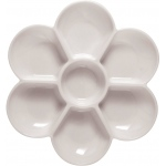 "Heritage Arts™ Sectional Palette; Material: Plastic; Quantity: 7 Wells; Shape: Flower; Size: 7"" x 5/8""; (model TX342), price per each"