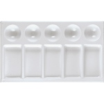 "Heritage Arts™ Rectangular Plastic Palette Tray 7 x 4 3/4; Material: Plastic; Shape: Rectangle; Size: 4 3/4"" x 7""; (model CW161), price per each"