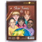 Finetec 15-Color Skin Tones Pencil Set; Color: Multi; (model FTP001), price per set