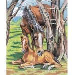 "Reeves™ Medium Colored Pencil By Numbers Horse & Foal; Color: Multi; Size: 9"" x 12""; (model PPCN3), price per each"