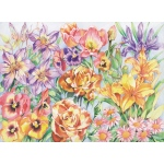 "Reeves™ Large Colored Pencil By Numbers Floral Montage; Color: Multi; Size: 12"" x 15""; (model PPCR3), price per each"