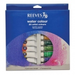 Reeves Watercolor Paint Sets: 22ml Tubes, 20-Color Set