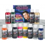 Createx™ Airbrush Primary 12-Color Set with DVD: Multi, Bottle, 2 oz, Airbrush, (model 5814-00), price per set