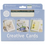 "Strathmore® 5 x 6.875 White/Emerald Deckle Creative Cards 20-Pack; Color: Green, White/Ivory; Envelope Included: Yes; Format: Card; Quantity: 20 Cards; Size: 5"" x 6 7/8""; Weight: 80 lb; (model ST105-40), price per 20 Cards"