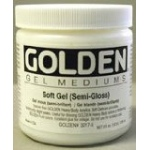 Golden® Semi-Gloss Soft Gel Medium 8 oz.: Semi-gloss, 236 ml, 8 oz, Gel, (model 0003017-5), price per each