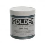 Golden® Black Gesso 8 oz.: Black/Gray, 236 ml, 8 oz, Gesso, (model 0003560-5), price per each