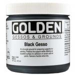 Golden® Black Gesso 16 oz.: Black/Gray, 16 oz, 473 ml, Gesso, (model 0003560-6), price per each