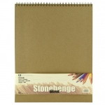 "Stonehenge® Versatile Artist Journal Cream 14"" x 18"": Wire Bound, White/Ivory, Pad, 32 Sheets, 14"" x 18"", Drawing, 90 lb, (model L21-SPR250CR1418), price per each"