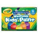 Crayola® Washable Kids' Paint 6-Color Bottle Set: Multi, Tube, 2 oz, (model 54-1204), price per set