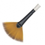 Daler-Rowney Simply Simmons Synthetic Acrylic/Multimedia Brush Fan Blender 4: Short Handle, Bristle, Fan, Acrylic, Multimedia, (model SS255047004), price per each