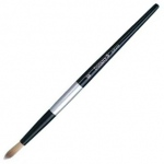 Dynasty Black Silver Blended Synthetic Watercolor Brush: Round, Size 0