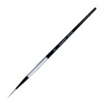 Dynasty® Black Silver® Blended Synthetic Watercolor Brush Long Liner 0: Short Handle, Bristle, Liner, Watercolor, (model FM32818), price per each