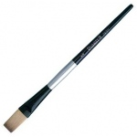 Dynasty Black Silver Blended Synthetic Watercolor Brush: Stroke, Size 1/2