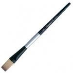 Dynasty Black Silver Blended Synthetic Watercolor Brush: Stroke, Size 3/4