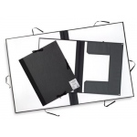 "Cachet® 23"" x 31"" Classic Portfolio with Folding Flaps; Color: Black/Gray; Material: Fiberboard, Paper; Size: 23"" x 31""; (model CS471312331), price per each"