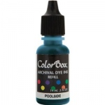ColorBox® Archival Dye Refill Poolside: Blue, Pad, Dye-Based, (model CS27411), price per each
