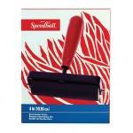 "Speedball® 4"" Heavy Duty Hard Rubber Brayer: Rubber, 4"", (model H4124), price per each"
