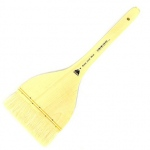"Prima White Goat Hake Brush with Split Handle: Size 4"""