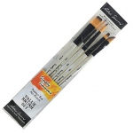 Daler-Rowney Simply Simmons Pure Spring Watercolor 5-Brush Set; Material: Synthetic Bristle; Type: Acrylic; (model SS255500006), price per set