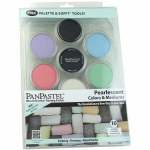 PanPastel® Ultra Soft Artists' Painting Pastel Pearlescent 10-Color Set: Pan, Ultra Soft, (model PP30113), price per set