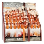 Princeton Best Refine Natural Bristle Oil and Acrylic Brush Display