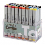 Copic® Original Set Marker; Color: Multi; Double-Ended: Yes; Ink Type: Alcohol-Based; Refillable: Yes; Tip Type: Broad Nib, Fine Nib; (model CB36), price per set