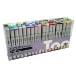 Copic® Sketch 72-Color Marker Set B; Color: Multi; Double-Ended: Yes; Ink Type: Alcohol-Based; Refillable: Yes; Tip Type: Broad Nib, Brush Nib; (model S72B), price per set