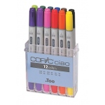 Copic® Ciao Set Basic Marker; Color: Multi; Double-Ended: Yes; Ink Type: Alcohol-Based; Refillable: Yes; Tip Type: Broad Nib, Fine Nib; (model IB12), price per set