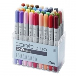 Copic® Ciao Ciao 36-Marker Set B; Color: Multi; Double-Ended: Yes; Ink Type: Alcohol-Based; Refillable: Yes; Tip Type: Broad Nib, Fine Nib; (model I36B), price per set