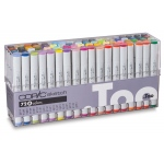 Copic® Original 72 Marker Set A; Color: Multi; Double-Ended: Yes; Ink Type: Alcohol-Based; Refillable: Yes; Tip Type: Broad Nib, Fine Nib; (model C72A), price per set