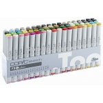 Copic® Original 72 Marker Set C: Multi, Double-Ended, Alcohol-Based, Refillable, Broad Nib, Fine Nib, (model C72C), price per set