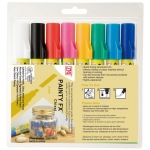 Zig®  Painty FX® Chisel Paint Marker 8-Color Set: Multi, Alcohol-Based, Chisel Nib, (model PPF-50/8V), price per set