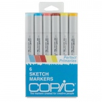 Copic® Sketch 6-Color Perfect Primary Marker Set; Color: Multi; Double-Ended: Yes; Ink Type: Alcohol-Based; Refillable: Yes; Tip Type: Broad Nib, Brush Nib; (model SPRIMARIES), price per set