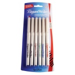 Speedball® Elegant Writer® Calligraphy 6-Color Fine Marker Set; Color: Multi; Ink Type: Dye-Based; Tip Type: Fine Nib; Type: Calligraphy; (model S2881), price per set