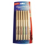 Speedball® Elegant Writer® Calligraphy 6-Color Medium Marker Set; Color: Multi; Ink Type: Dye-Based; Tip Type: Medium Nib; Type: Calligraphy; (model S2882), price per set