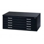 "Mayline® 5-Drawer C-File Black: 1000 Sheets, Black/Gray, Steel, 5-Drawer, 41 3/8""d x 53 3/4""w x 15 3/8""h, (model 7869CB), price per each"