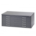 "Mayline® 5-Drawer C-File Gray: 1000 Sheets, Black/Gray, Steel, 5-Drawer, 35 5/8""d x 46 3/4""w x 15 3/8""h, (model 7868CG), price per each"