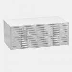 "Mayline® 10-Drawer C-File White: 1000 Sheets, White/Ivory, Steel, 10-Drawer, 41 3/8""d x 53 3/4""w x 15 3/8""h, (model 7979CW), price per each"