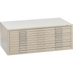 "Mayline® 10-Drawer C-File White: 1000 Sheets, White/Ivory, Steel, 10-Drawer, 35 5/8""d x 46 3/4""w x 15 3/8""h, (model 7978CW), price per each"