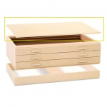 "SMI Natural Oak Finish Flat File Cap: 39 7/8"" x 53 5/8"" x 1"""