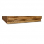 "SMI Medium Oak Steel Drawer Guide Flat File Flush Base: 31 1/2"" x 46 3/4"" x 3 1/4"""