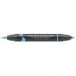 Prismacolor® Premier Brush Marker Violet Blue Light; Color: Blue; Double-Ended: Yes; Ink Type: Alcohol-Based, Dye-Based; Tip Type: Brush Nib, Fine Nib; (model PB041), price per each