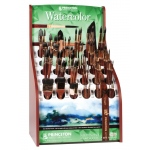 Princeton Best Neptune Synthetic Squirrel Watercolor Brush Display Assortment: 119 Assorted Pieces