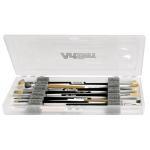 "ArtBin Brush Box with Foam Inserts: Translucent, 14"" x 6"" x 1.25"""