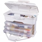 ArtBin Solutions Storage Cabinet: 30 Drawer, White