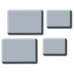 "Inovart Kneaded Erasers Medium Size 1-1/4"" x 3/4"" x 1/4"" - 12 Per Package"