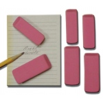 "Inovart Pink Beveled Eraser - Large - 2-1/2"" x 1"" x  1/4-Inch"" - 12 per pack"