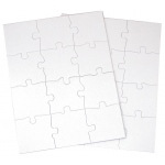 """Inovart Puzzle-It Blank Puzzles 12 piece 81/2"""" x 11"""" - 24 Per Package"""
