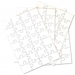 "Inovart Puzzle-It Blank Puzzles 28 Piece 5-1/2"" x 8"" - 12 puzzles Per Package"